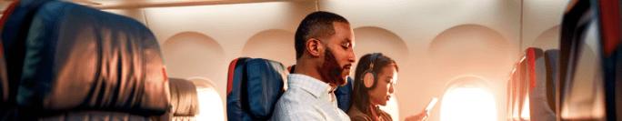 デルタ航空 機内WiFiイメージ