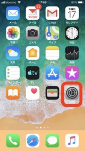 iphoneでデータ使用量確認する手順1
