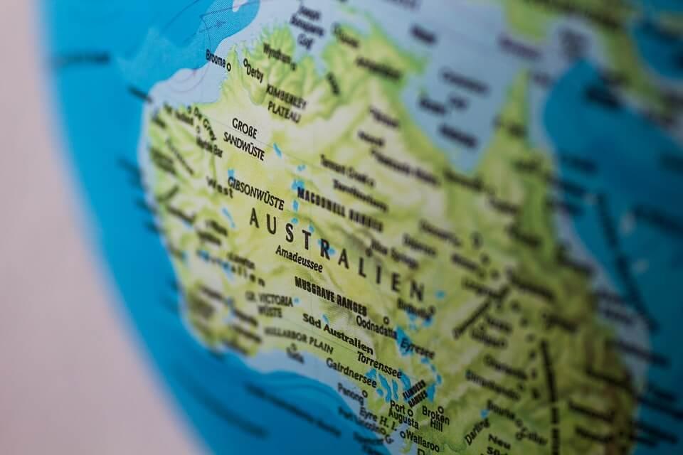オーストラリアの地図イメージ