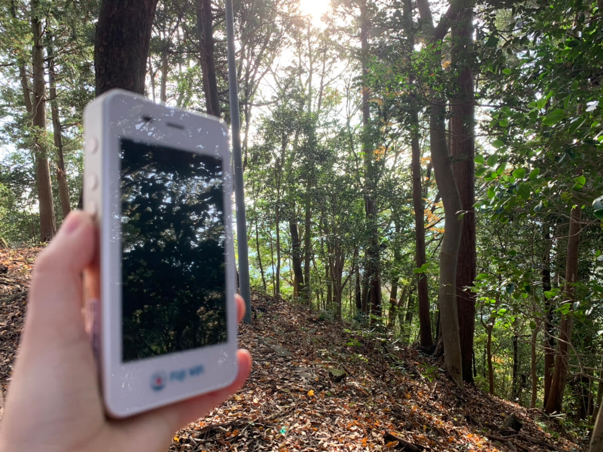 FUJI Wifiの通信速度を山で測定